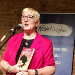 Elizabeth Ducie reading from her novel Counterfeit at Novel Nights Exeter